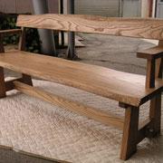 栗のベンチ椅子