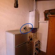 Kühlschrank mit Tiefkühler - Durchlauferhitzer