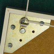 Wechselrahmen mit D-Ringöse bestückt für Galerieschiene