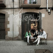 Poker en la calle. Barrio El Born. Serie BCN Moments
