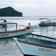 Peñeros en Mochima. Venezuela