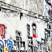 Arte callejero en el Barrio del Born. Barcelona (4)