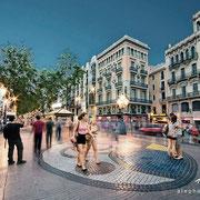 Eterno instante. Mosaico de Joan Miró en La Rambla, Barcelona