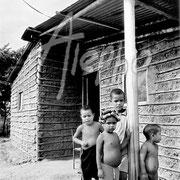 Generación tipo INAVI. Casa de bahareque al estilo de la casa tipo de los planes gubernamentales. Güiria, Venezuela