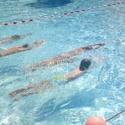 Schwimmen ist Schweben und Gleiten