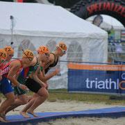 Start Elite Juniorinnen in Zittau - ITU WM