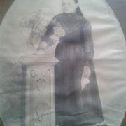 Señora Luz Juarez en su casa de Coatlinchan (mamá de doña Luz) Año:1927