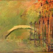 Мост через канал. Италия х.м. 79,5х100 2007г. Сомова Наталия Вячеславовна