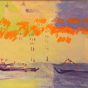 Свет на горе. Город Порту. х.м. 60х80 2011г. Сомова Наталия Вячеславовна
