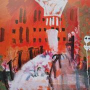Венеция. Мост в магазин масок. х.м. 73х90 1994г. Сомова Наталия Вячеславовна