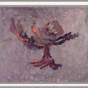 Дети Адамовы трудятся у дерева познания добра и зла, где некогда трудился и он, сотрясая ветви его в надежде достигнуть плода, а древом жизни пренебрегая х.м. 100х115