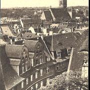 Aschersleben  1940  Blick auf die Stephanikirche
