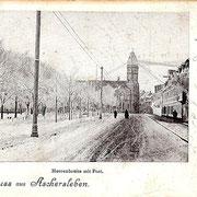 Aschersleben  1914  Herrenbeite mit Post