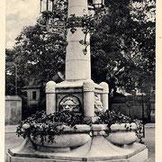 Aschersleben  1959  Brunnen am Hohen Tor