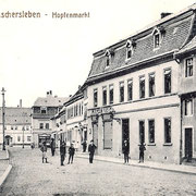 Aschersleben  1909  Hopfenmarkt