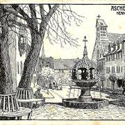 Aschersleben  1910  Hennebrunnen