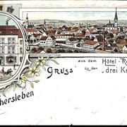 Aschersleben  1899  Hotel zu den drei Kronen