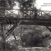 Aschersleben  1905  Einebrücke am Burgplatz