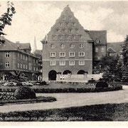 Aschersleben  1930  Bestehornhaus von der Herrenbreite gesehen