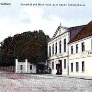 Aschersleben  1913  Kaiserhof mit Blick nach dem neuen Krankenhause