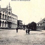 Aschersleben  1925  Bahnhof mit Betriebsgebäude