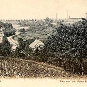 """Aschersleben  1898  Blick von der """"Alten Burg"""" in das Einetal"""
