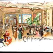 Aschersleben  1900  Cafe Hohenzollern