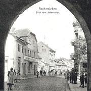 Aschersleben  1919  Blick vom Johannistor