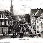 Aschersleben  1898  Markt
