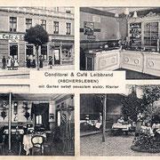 Aschersleben  1912  Conditorei & Cafe Leibbrand