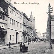 Aschersleben  1905  Breite - Straße