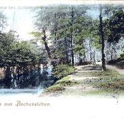 Aschersleben  1898  Parthie aus dem Apothekergraben . . .