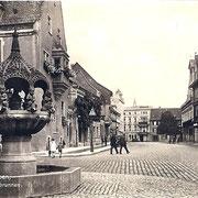 Aschersleben  1924  Markt mit Hennebrunnen