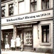 Aschersleben  1920  Bäckerei Kurt Hörning