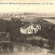 Aschersleben  1916  Restaurant Bäckermühle
