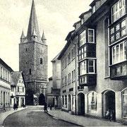 Aschersleben  1936  Tie am Johannisturm