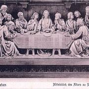 Aschersleben  1918  Mittelstück des Altars zu St. Stephanie