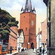 Aschersleben  1920  Am Tie mit Johannisturm