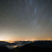 Star trails over the bavarian alps, Karwendel | © Bernhard Thum, ID-Nummer GS-04-2015-011