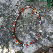 Carnelian, Jasper, and Other Gems with Sterling
