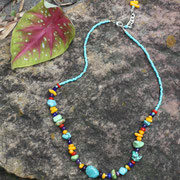 Turquoise and Mult-gems with Sterling  $45