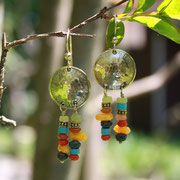 Gems and Seed Beads with gold filled wire