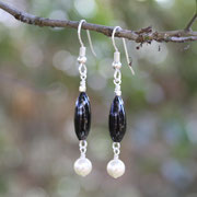 Handblown Glass with Freshwater Pearl and Sterling