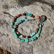 Double Strand Turquoise and Copper
