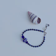 Lapis, Murano glass bead with sterling silver clasp and charm  $35