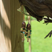 Jasper and Copper Tassel Earrings
