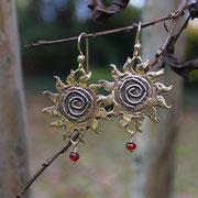 Bronze Sunshine with Vintage Glass Beads  $25