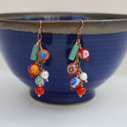 Murano Glass, Turquoise, Pearl on Rose Gold-filled  $35
