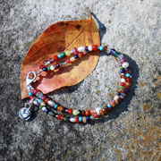 Multi-gemstone double strand bracelet  $40