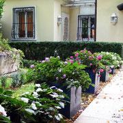 Zugang Garteneingang historische Villa Wien